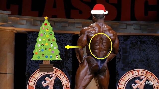 広背筋下部のクリスマスツリー