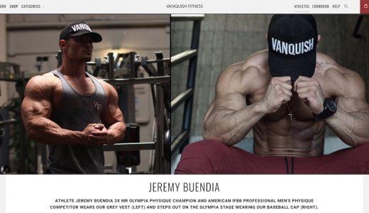 ジェレミーブエンディアがモデルをつとめる、フィットネスアパレル「Vanquish Fitness(ヴァンキッシュ フィットネス)」がアツい