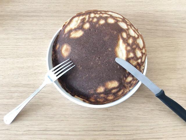 バナナ味プロテインパンケーキ完成