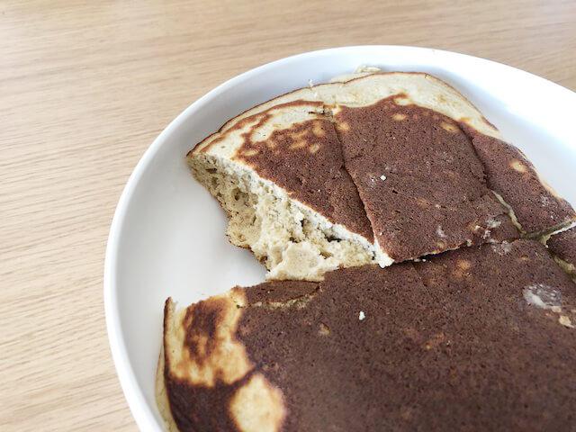 プロテインパンケーキの断面写真