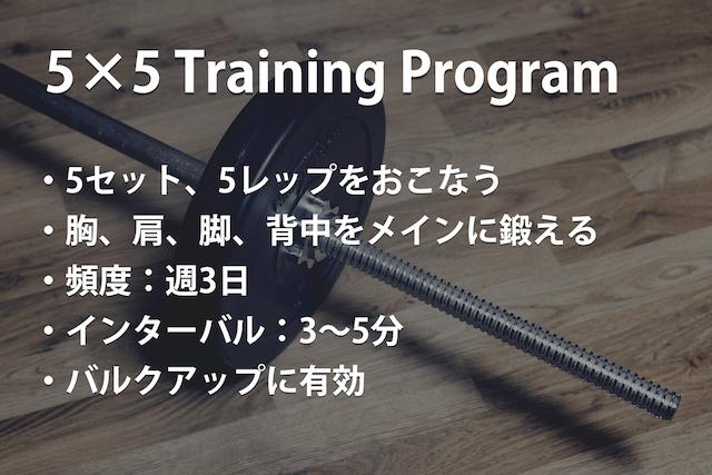 トレーニング概要