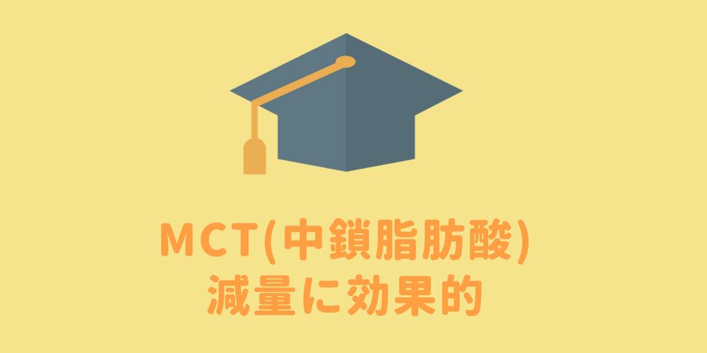 MCTは減量に効果がある