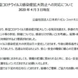 JBBFがコンテストの延期・中止を発表